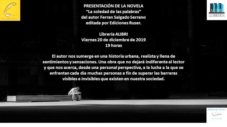 Presentación Novela La Soledad de las Palabras